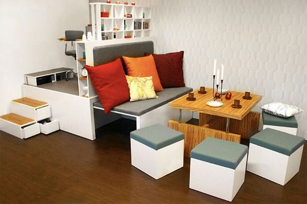 Four Rooms In One With The Ingenious Matroshka Furniture You Get Four Rooms  In One As The Living Room, Bedroom, Study And Dining Room Are All Neatly ...