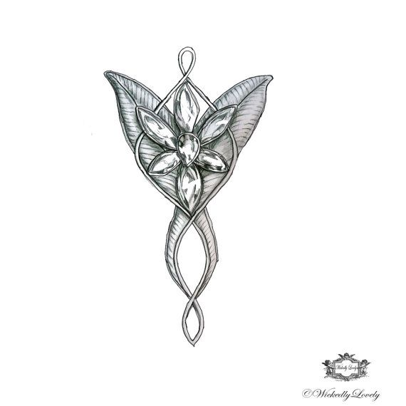 Evenstar, Arwens necklace, Lord of the Rings is a Wickedly Lovely Skin Art Temporary Tattoo to decorate your mortal shell. ♥ You can choose