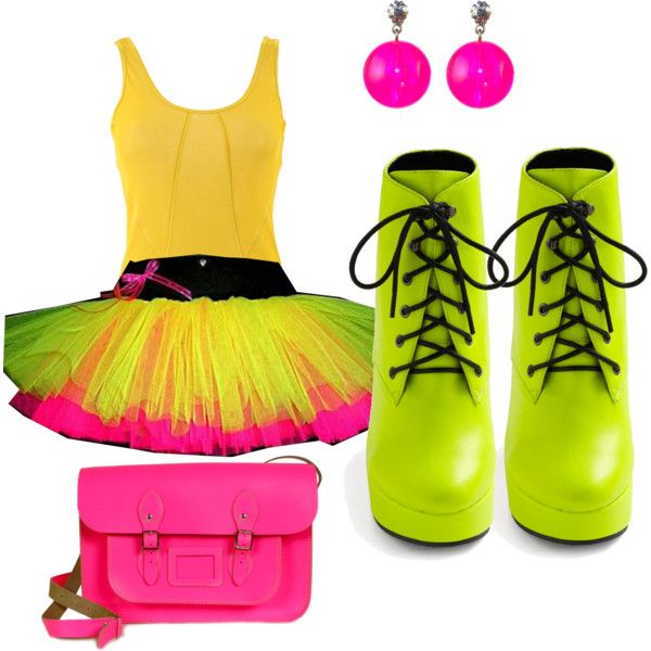 Neon Party Outfit, created by preecylove on Polyvore