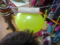 Okul öncesi eğitim : MİNİ GÜNCE: Balon Roket Deneyi