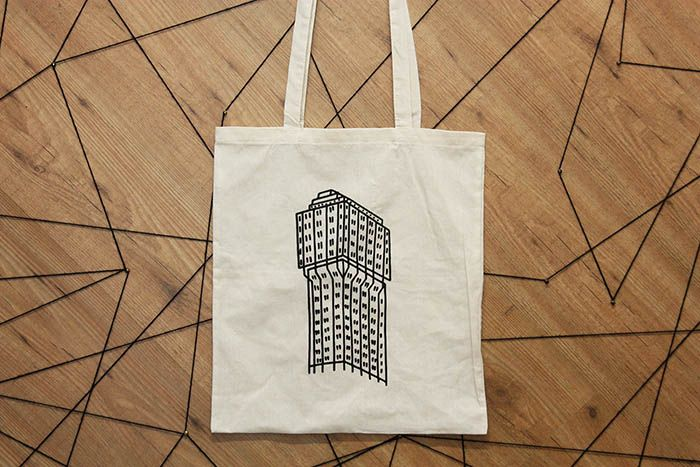 tote bag Torre velasca - Milano giadamontomoli.com printed by Corpoc