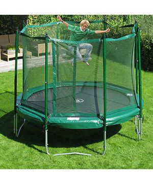 My high energy kiddos need a trampoline. This JumpFree 15' Trampoline & Safety Skirt Set by KidWise is perfect! #zulilyfinds
