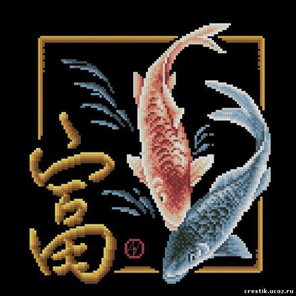 Значения вышитой картины Рыбы по Фэн-Шуй