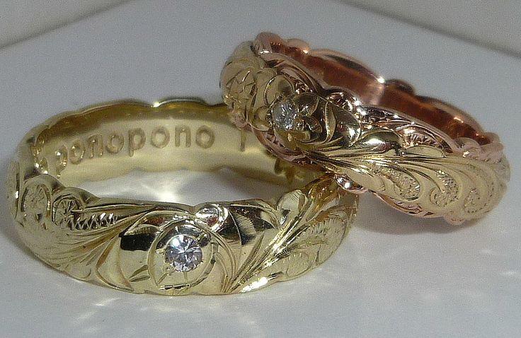 ハワイアンジュエリー 結婚指輪 デザイン - Google 検索