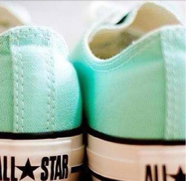 All star mint green converse