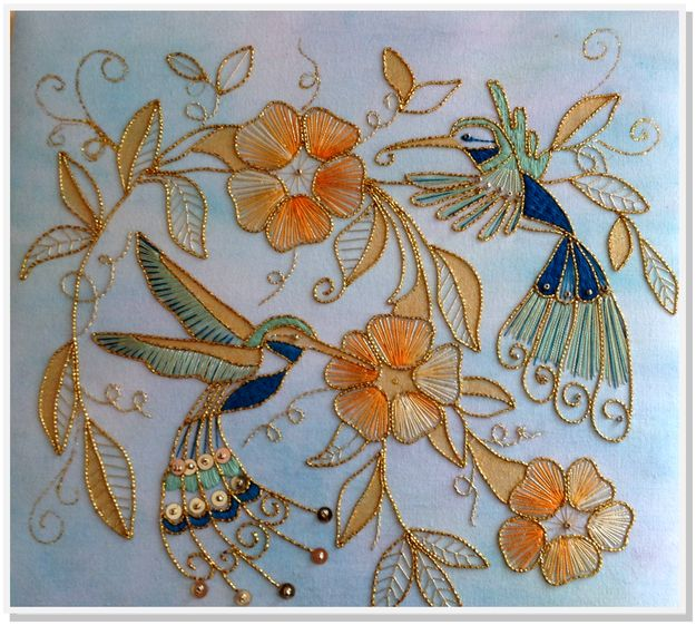 Goldwork Hummingbird Kit