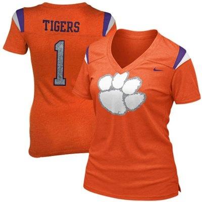Nike Clemson Tigers Ladies Replica Premium T-Shirt - Orange