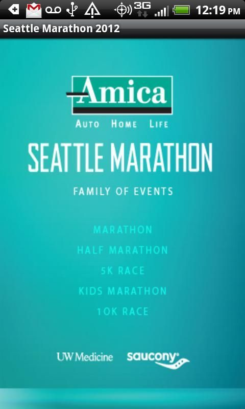 The Official app of the Seattle Marathon Family of Events. Now you can have the race details in the palm of your hand including course maps, schedules, SMA news and social connection. On race day, you can even allow friends and family to track your progress or have your results posted on Facebook and/or Twitter. <br/><br/>The 2012 events take place November 23-25 and include the 42nd Annual Amica Insurance Seattle Marathon Run & Walk and Half Marathon Run & Walk, the Seattle Children's Kids…