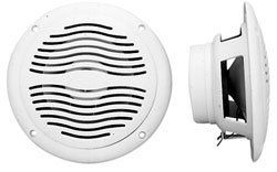 """Magnadyne WR40W Waterproof Marine & Hot Tub Speakers by Magnadyne. $14.99. These speakers are an exact replacement for many OEM hot tub speakers and also work well in any marine or outdoor application because of their water resistant properties.    - Ideal for all outdoor uses  - Dual cone design for good frequency response - 6 oz. magnet weight  - 25 watts maximum power handling each speaker  - 4 ohm impedance  - 65Hz-16.5kHz frequency response  - 1 3/8"""" mounting d..."""