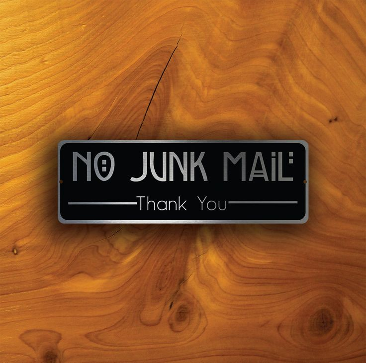 NO JUNK MAIL Sign, No Junk Mail signs, No Solicitation, No Junk Mail durable brushed aluminum composite and cut vinyl overlay, No Junk Mail by DecaModa on Etsy https://www.etsy.com/ca/listing/463541926/no-junk-mail-sign-no-junk-mail-signs-no