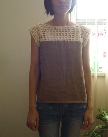 Errata in row 1 - sorry about that! New pattern! :D Really liking those half-lace blouses that are popular nowadays. So I figure I could make my own lace :D It's basically a part crochet,…