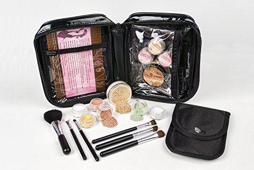 15 pc. STARTER KIT Mineral Makeup Set Bare Skin Cover Powder Foundation (Light Tan) - http://essential-organic.com/15-pc-starter-kit-mineral-makeup-set-bare-skin-cover-powder-foundation-light-tan/