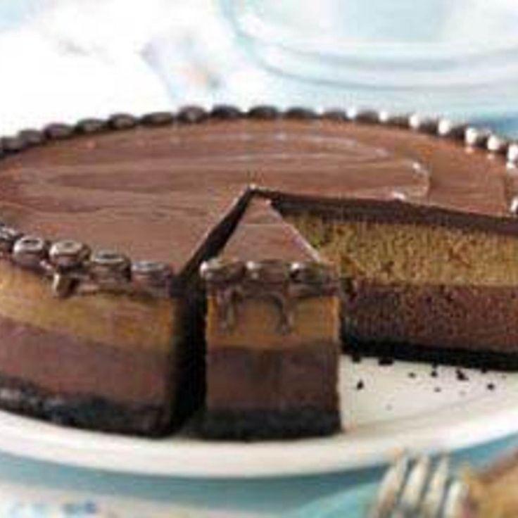 Layered Mocha Cheesecake Recipe | Just A Pinch Recipes