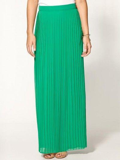 Favorite maxi dress picks - green maxi skirt