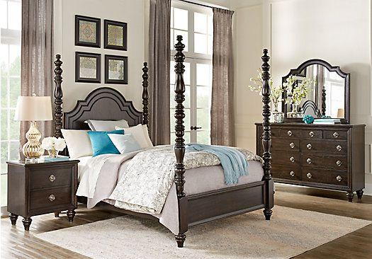 westerleigh oak 5 pc queen high poster bedroom 1