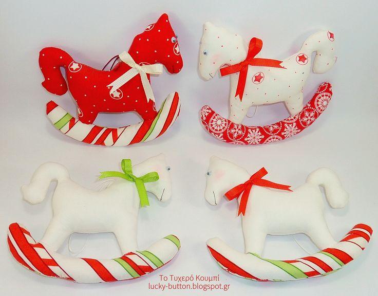 Handmade Christmas ornaments, rocking horse