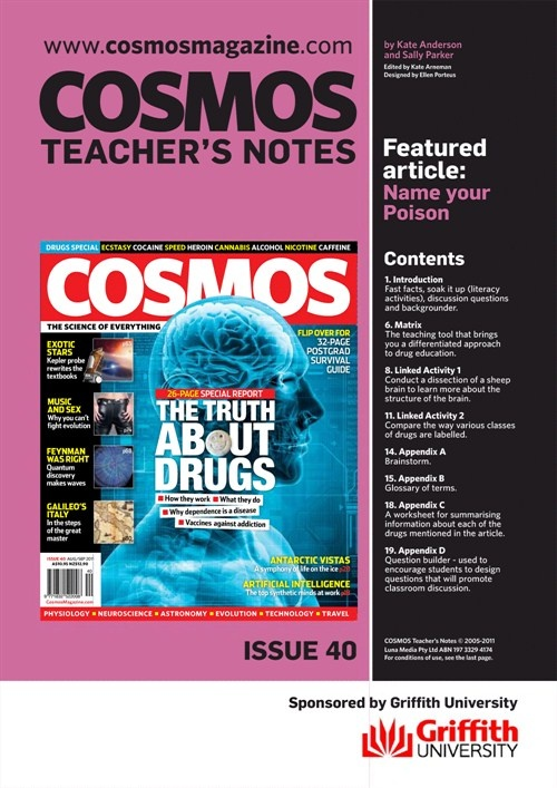 Teachers Notes INT : Issue 40, About Drugs