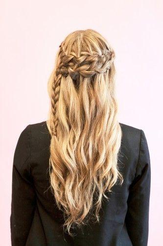 5 Ways to Wear a Waterfall (AKA Cascade) Braid: Girls in the Beauty Department: Beauty: glamour.com