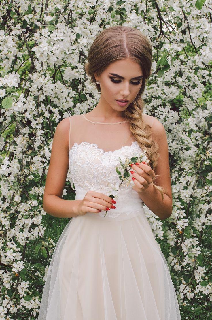 свадебное платье цвета пудры / пудровое свадебное платье Milano Vera  #свадьба #свадебноеплатье
