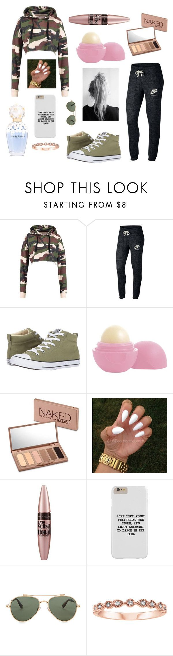 """""""Cute day out"""" by designerdream49 ❤ liked on Polyvore featuring NIKE, Converse, Eos, Urban Decay, Maybelline, Marc Jacobs and Givenchy"""