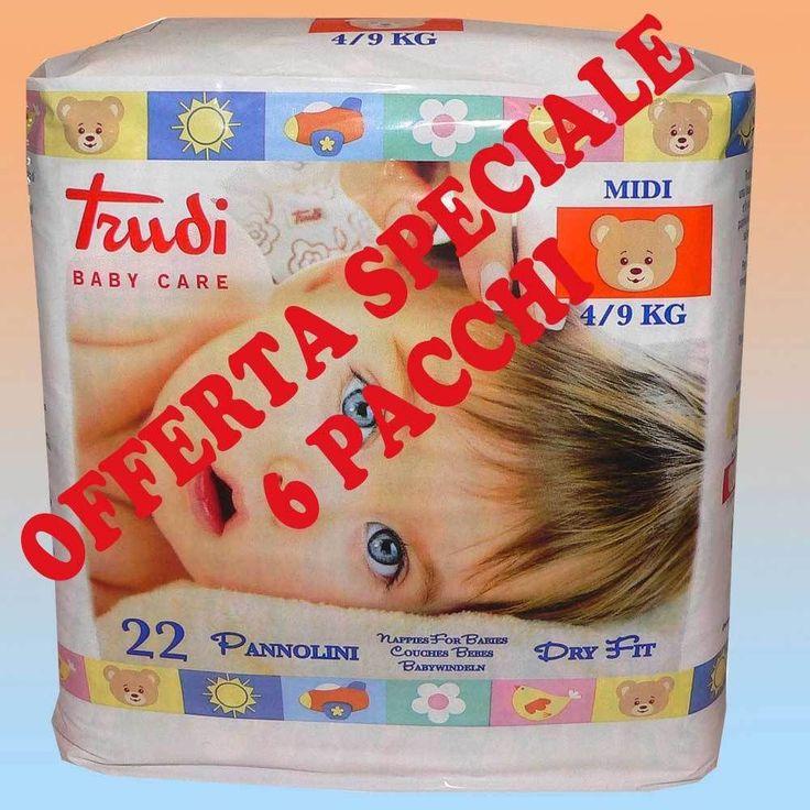 Pannolini Trudi Baby Care Dry Fit 4-9 Kg - 6 confezioni, 132 pezzi