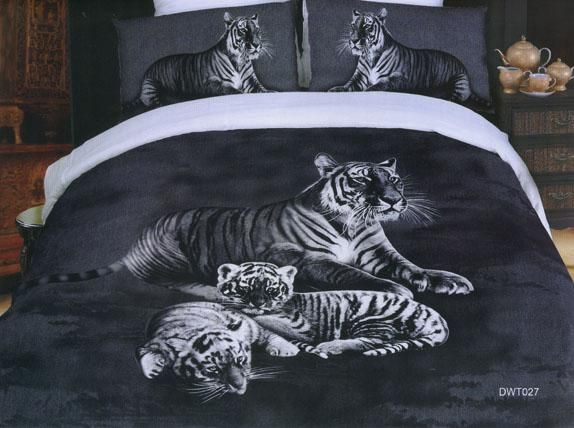 Black And White Duvet Cover With Tiger Print I Want