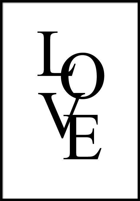 Wandbild Poster Love Wandbilder