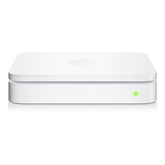 Apple Airport Extreme is recommended for larger areas. You can also use Apple Airport Express as a Wifi repeater.