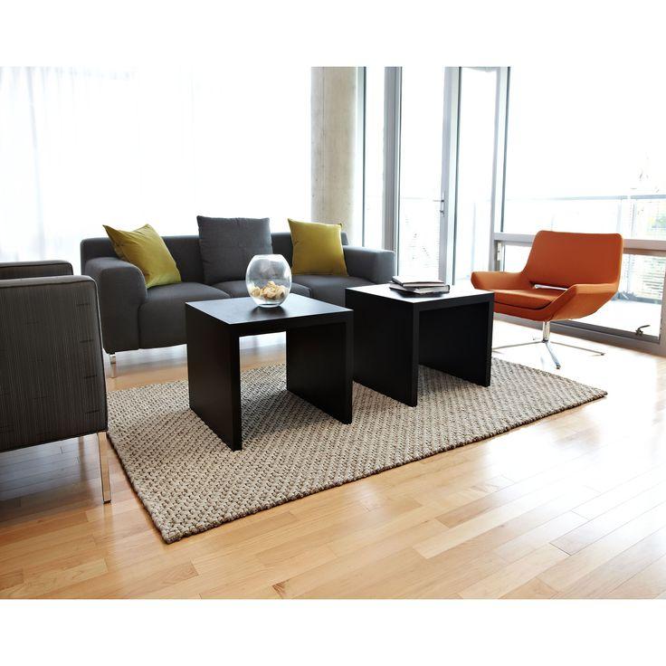Jani Bodhi Chunky Wool and Jute Handwoven Rug (4' x 6'), Brown, Size 4' x 6'