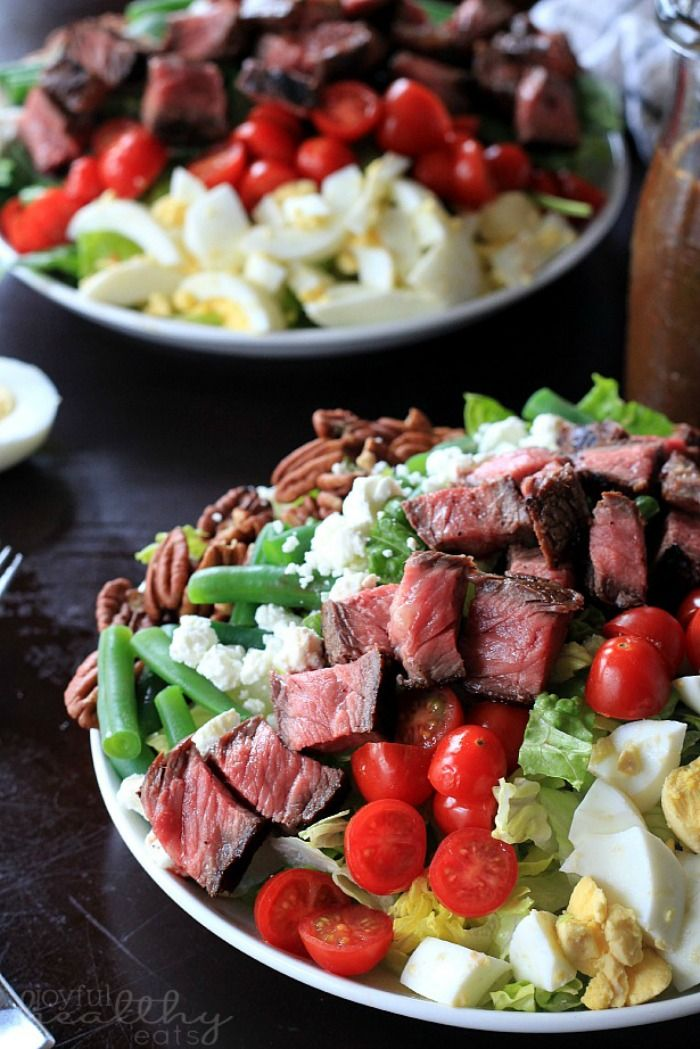 Have you ever seen a more gorgeous salad then this Ribeye Steak Salad with Balsamic Vinagrette from Joyful Healthy Eats?!