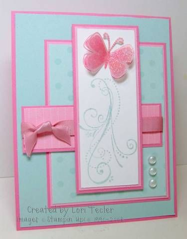 Spring Butterfly using Stampin Up Priceless stamp set