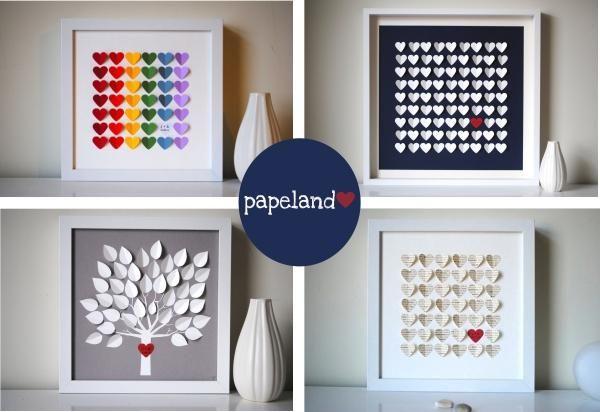 Puedes hacerlos con tantas formas y colores tengas en tu imaginación, te proponemos 4modelos con corazones y hojas.Materiales de manualidadesque vamos a neces