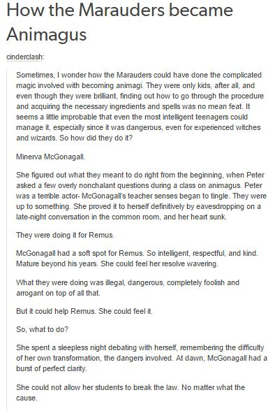 How the Marauders became Animagus part 1