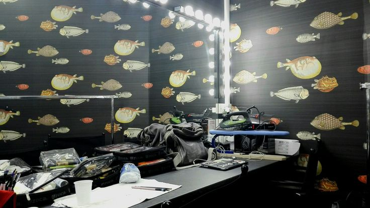 my makeup room for the day #fish #allaround #makeup