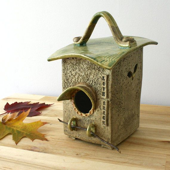 1000+ images about Ceramic Bird Houses on Pinterest | Ceramic birds ...