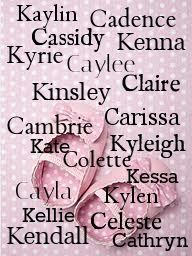 Find the perfect name for your little princess on the way! www.thebabynamer.weebly.com