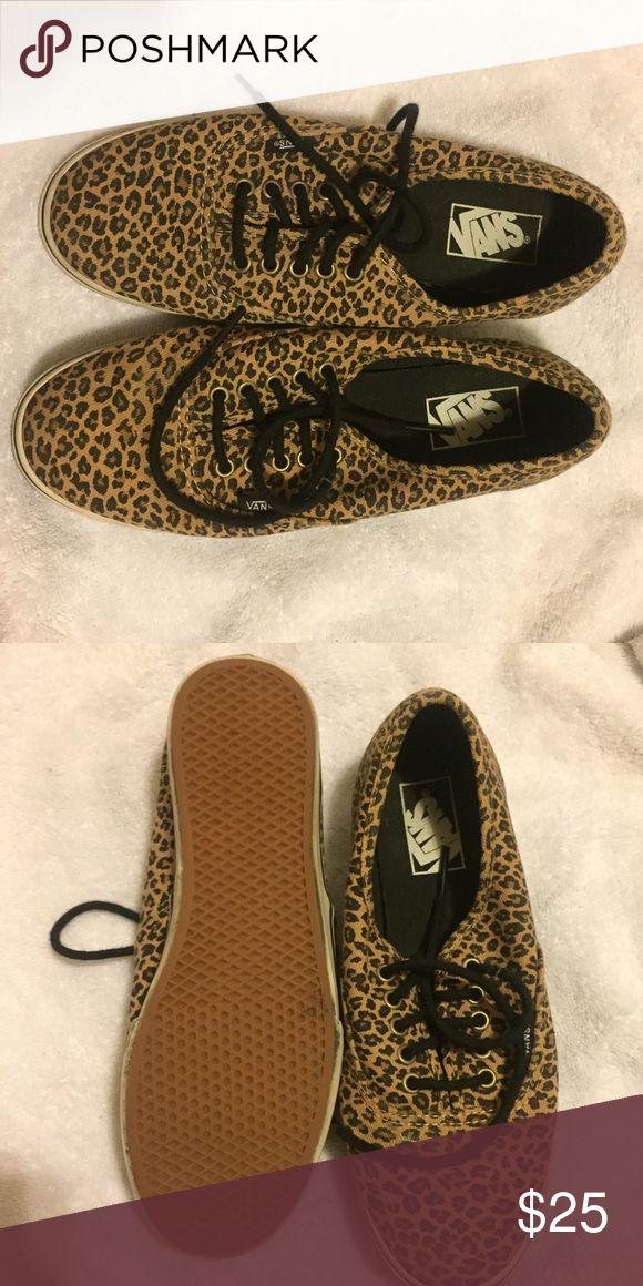 Leopard print vans Barely worn leopard vans Vans Shoes