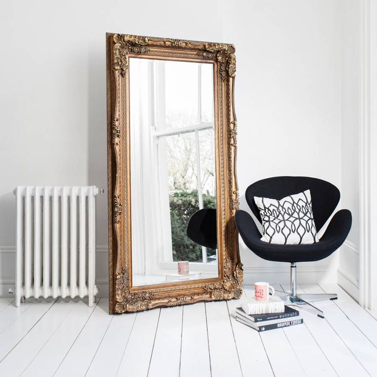 Gallery Gold Abbey Leaner Mirror 165x79cm (With images