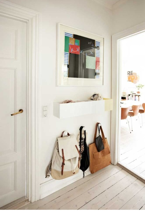 Entryway idea, but chalkboard instead of mirror.
