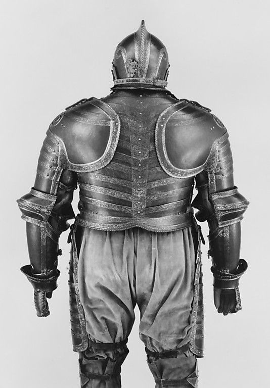 "The Field Armor of King Henry VIII of England    ""This impressive armor was made for Henry VIII (r. 1509–47) towards the end of his life when he was overweight and crippled with gout. Constructed for use on horse and on foot it was probably worn by the king during his last military campaign, the siege of Boulogne in 1544."""