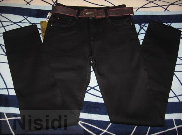 Черные женские джинсы на меху ACTION Jeans women dnepr