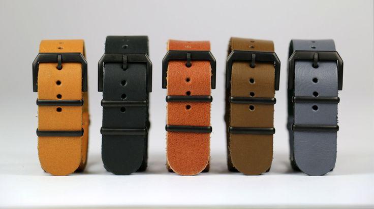 Handmade Italian ZULU Leather Straps KIBARDIN