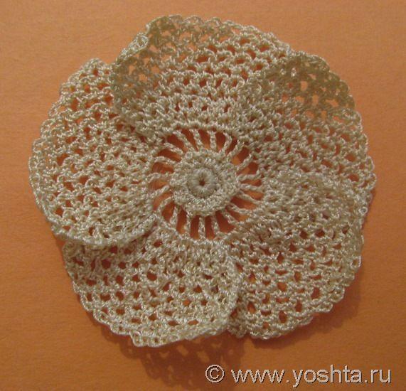 pictorial tutorial - no graph. http://yoshta.ru/vetochka-shipovnika-bolshoj-cvetok/