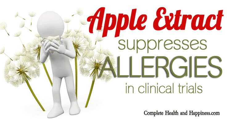 Apple Extract Suppresses Allergies in Clinical Trials - Complete Health and Happiness