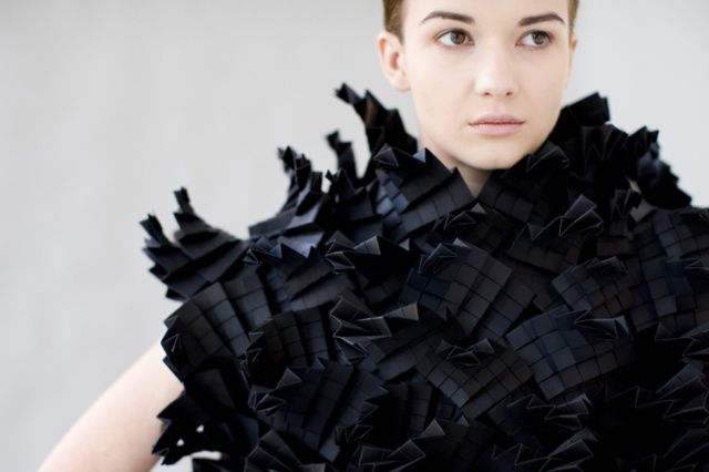 Morana Kranjec sculptural clothes - Photo 1 | Image courtesy of Morana Kranjec.  What a nice thinking!