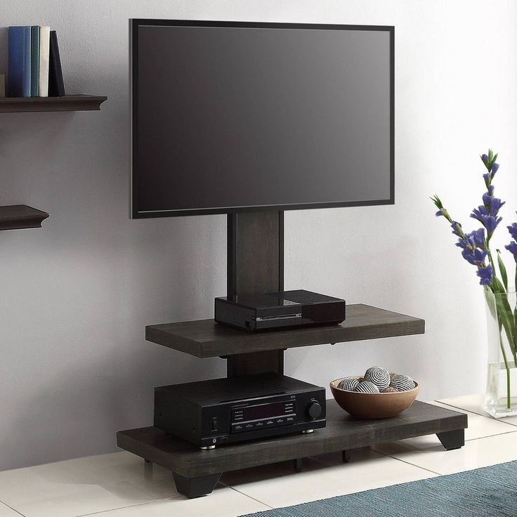 Whalen TV Stand, 2 Wood Shelf, with Mount for TVs Up to 50 LCD, LED Screen #Whalen