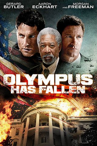 Olympus Has Fallen. It took me three days to get through this film, it was that bad. Aaron Ekhart isn't having a good year in film, is he?