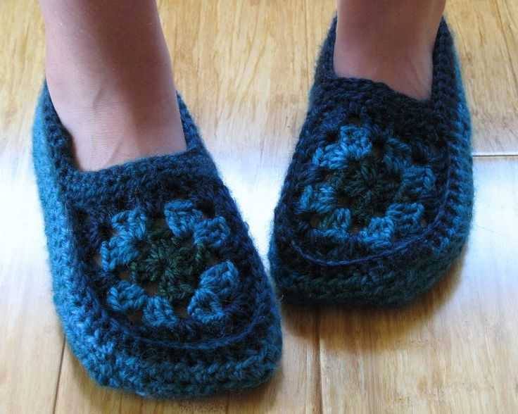 free granny square slipper pattern | made these fun little slippers this week....