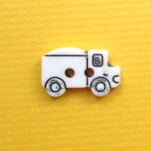 【楽天市場】フランス製 ボタン17mm ダンプトラック-ホワイト:totalitat