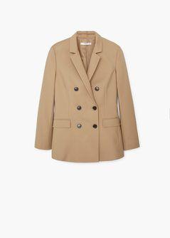 Двубортный хлопковый пиджак